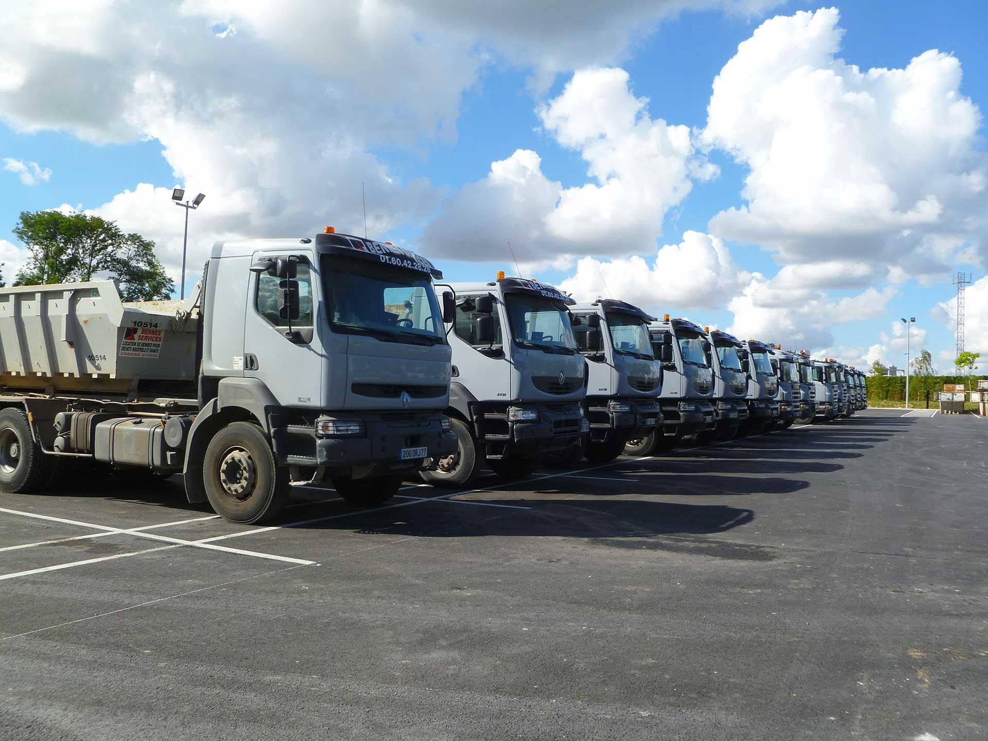 Flotte de Camions Bennes Services